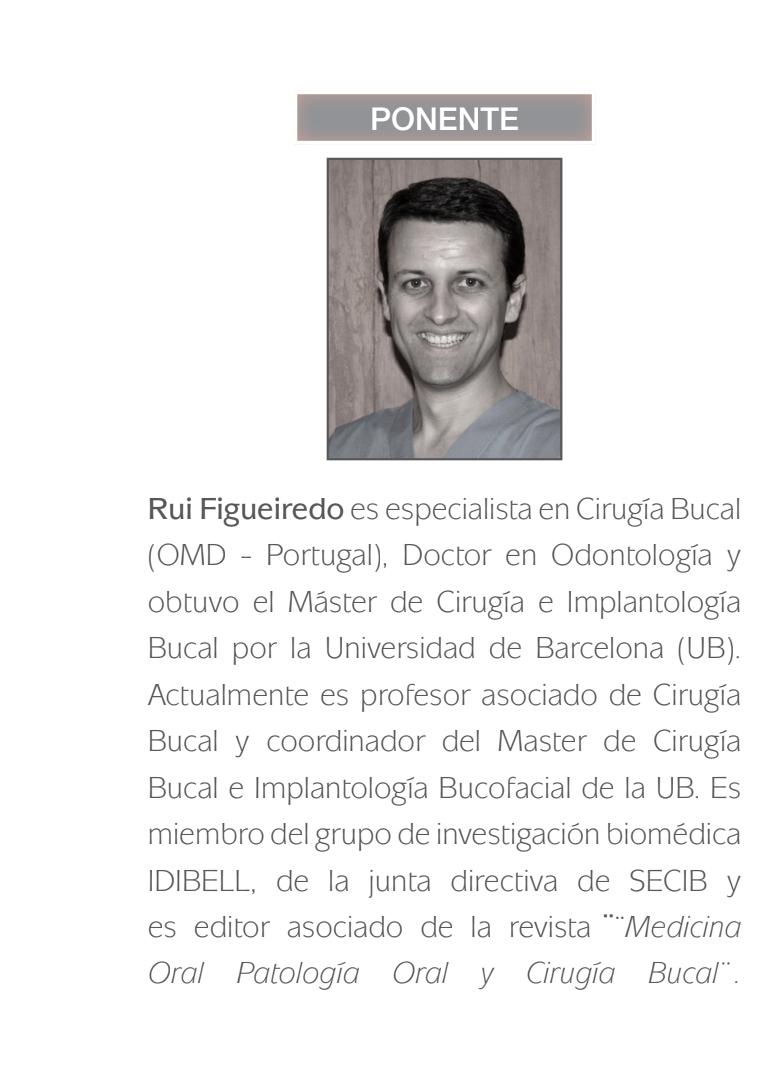 Ponente del curso de elevación de seno Dr. Rui Figueiredo